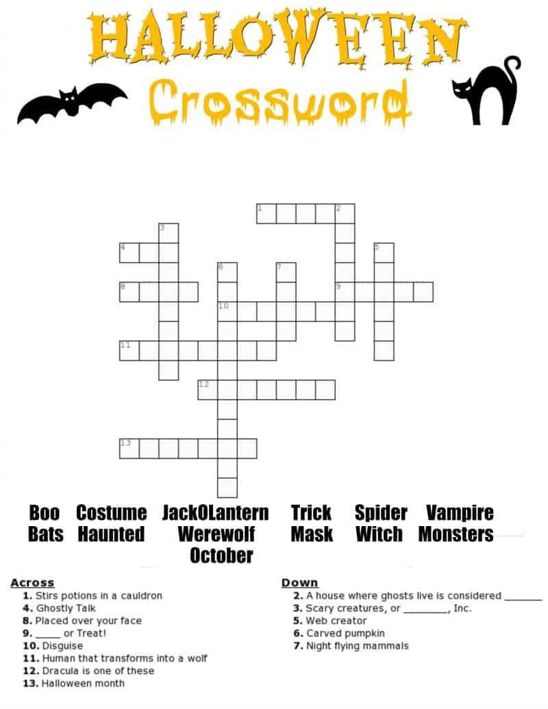 Halloween Word Search Worksheets Pdf