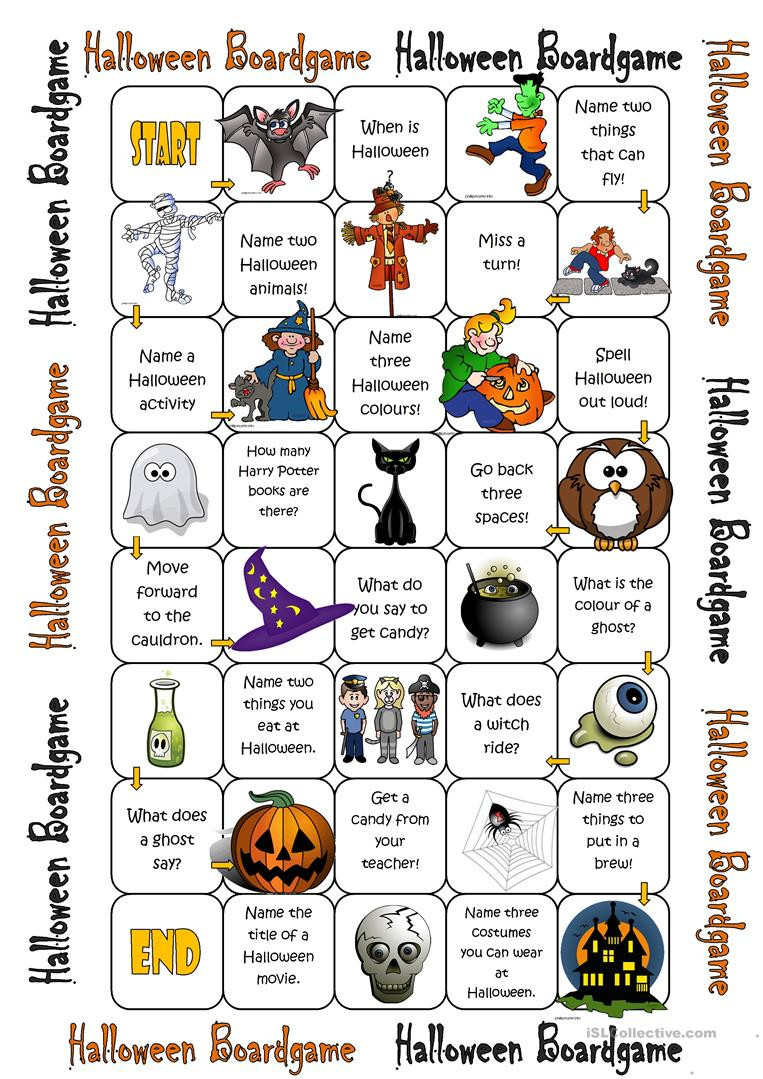Halloween Worksheet Games
