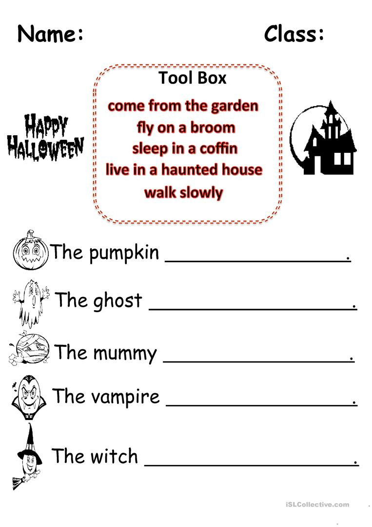 Halloween Worksheets A2
