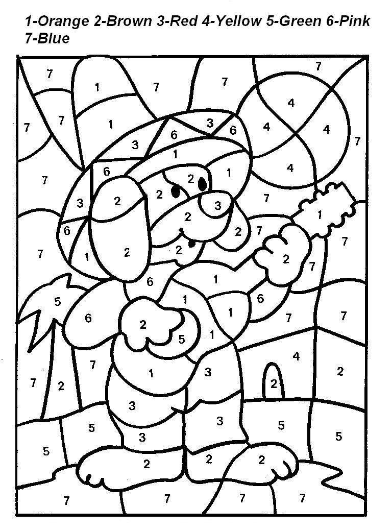 Halloween Worksheets Color by Numbers