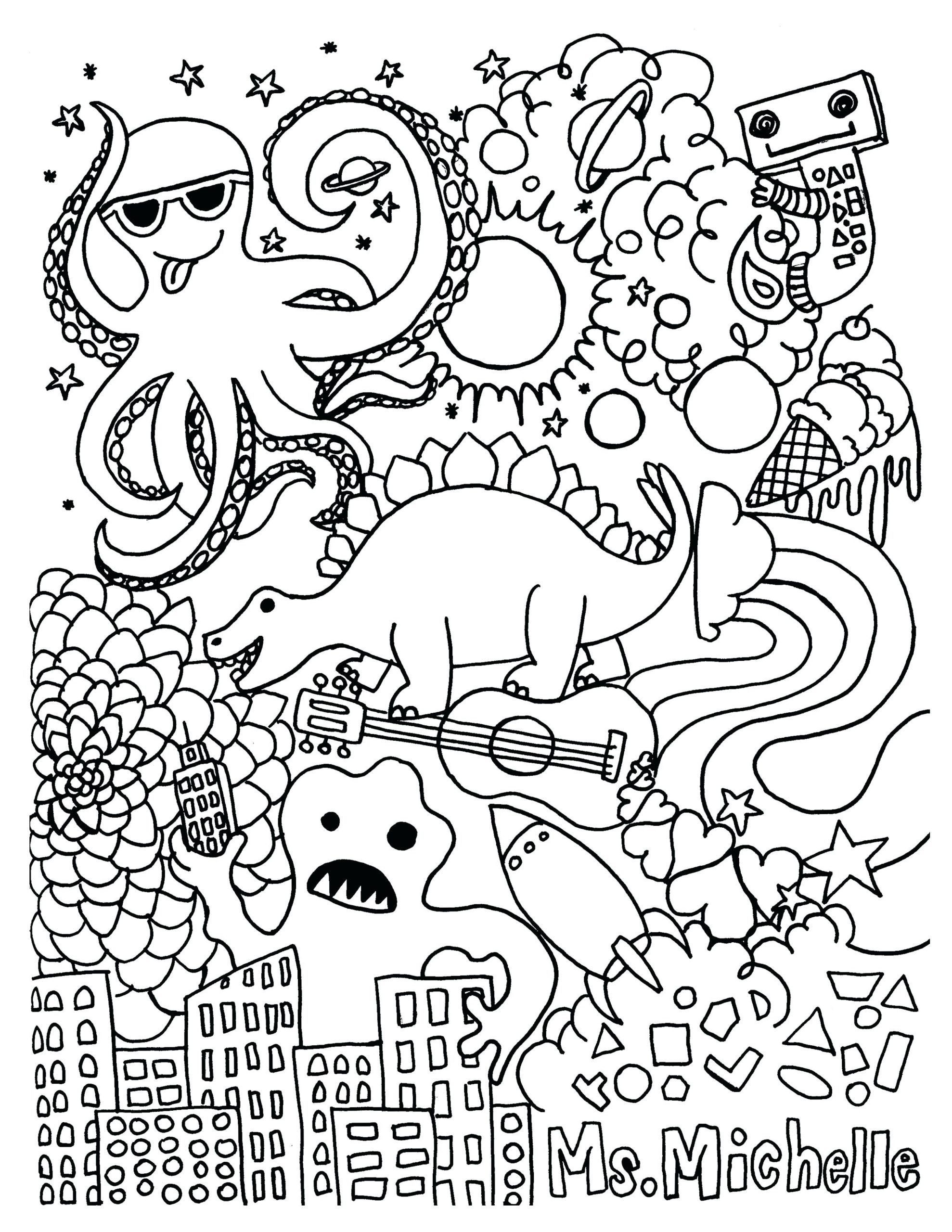 Halloween Worksheets Colouring