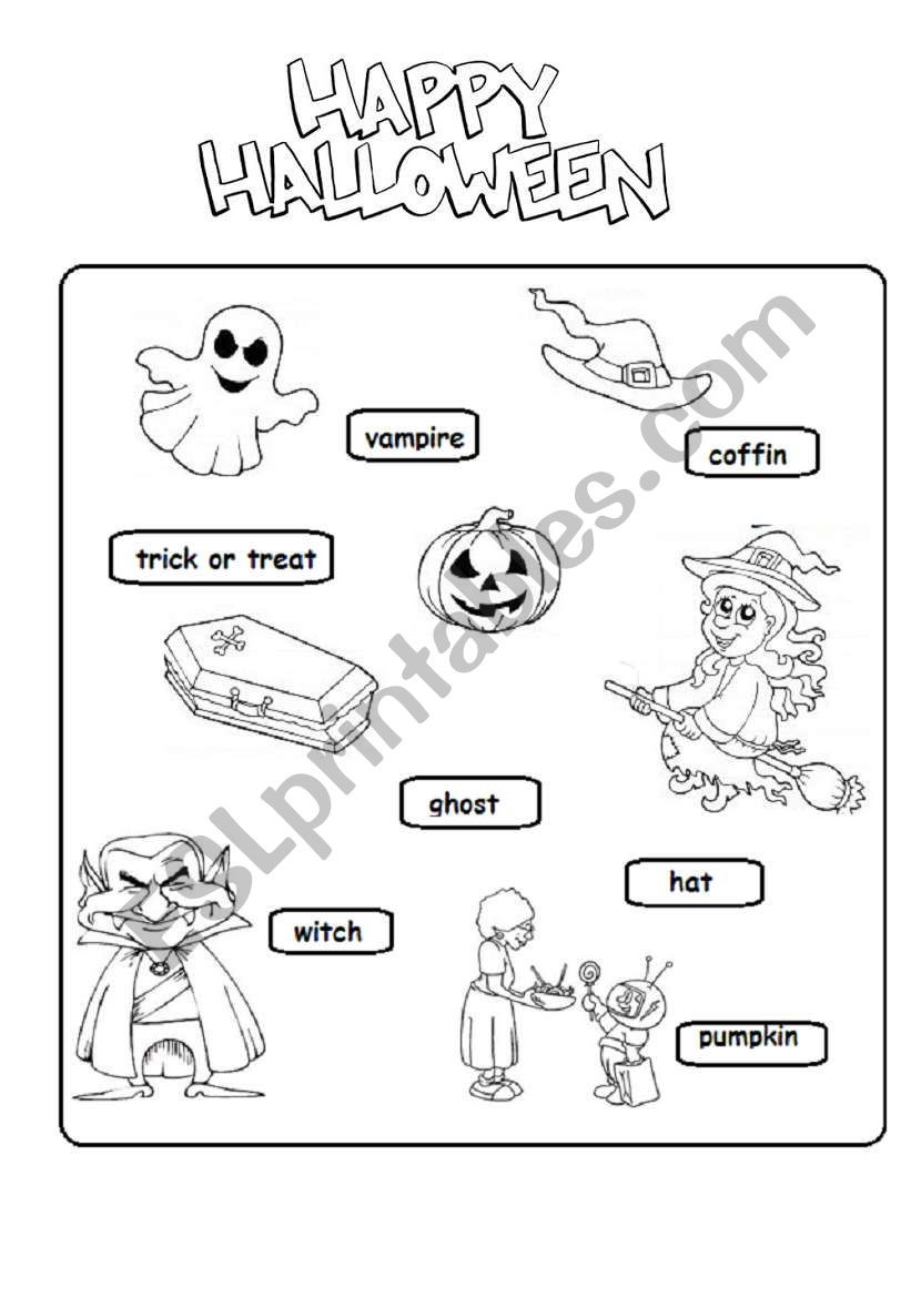 Halloween Worksheets Esl Printables