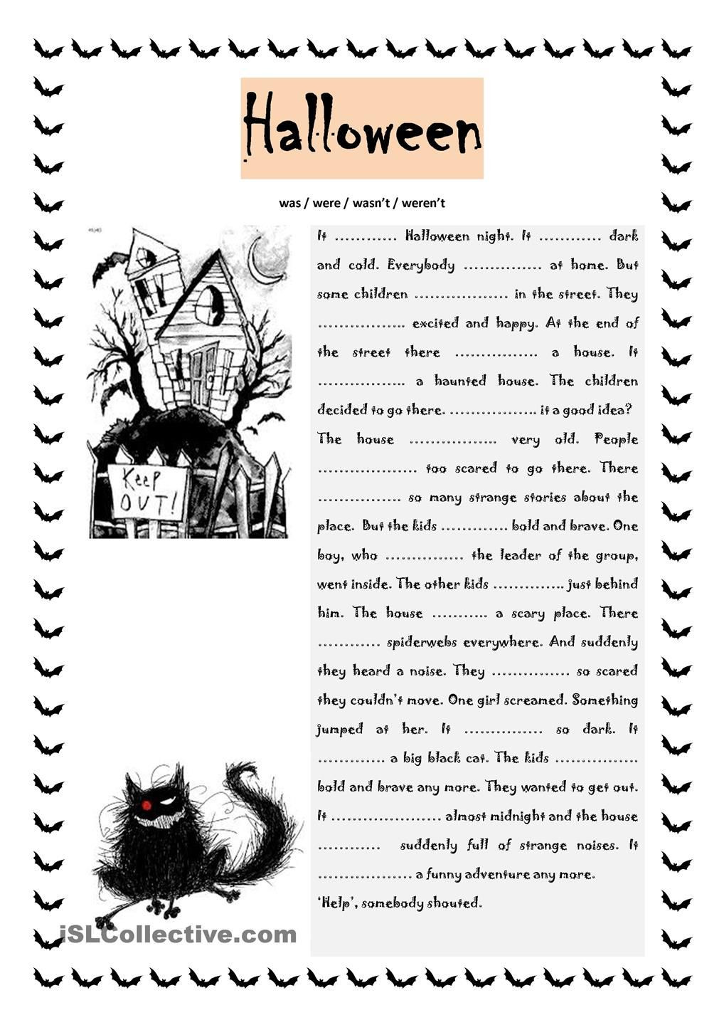 Halloween Worksheets for Adults Pdf