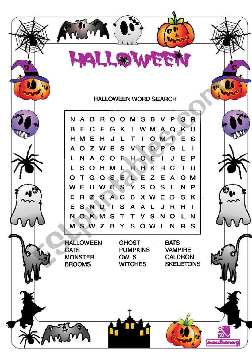 Halloween Worksheets for Young Learners