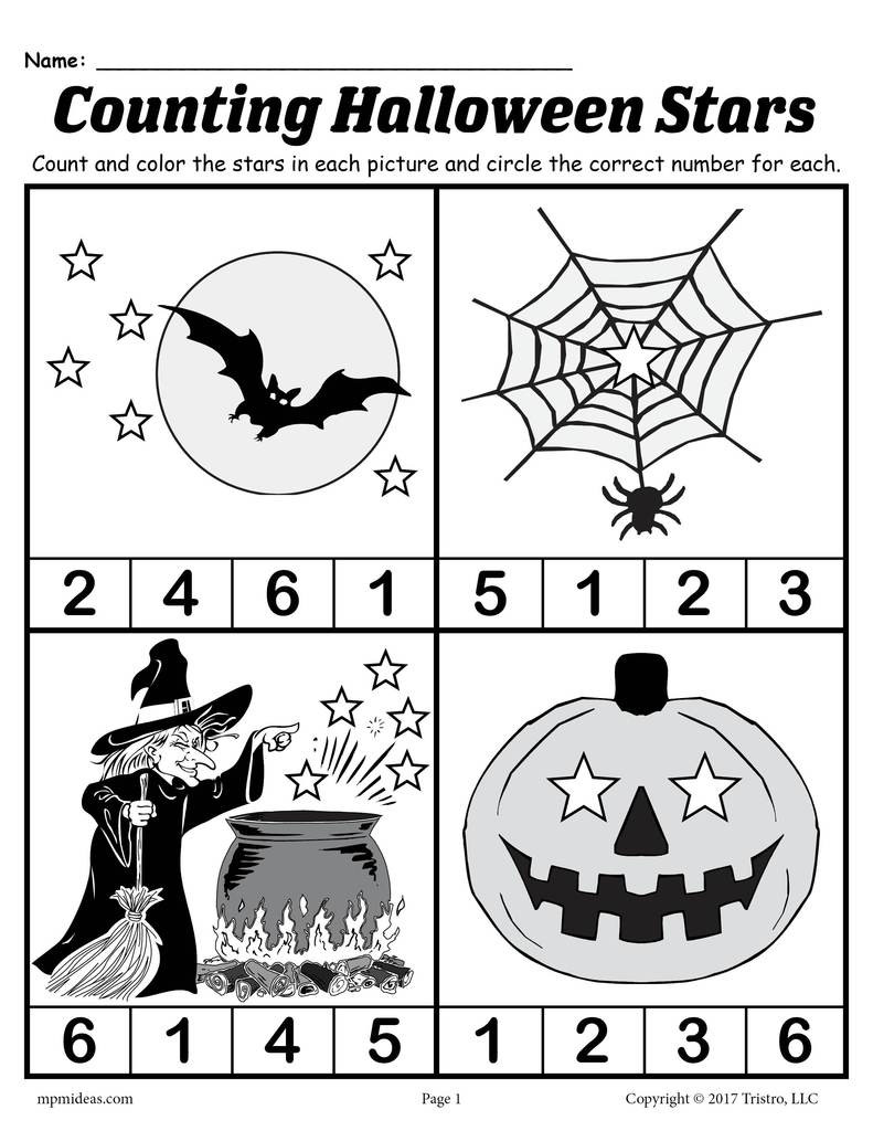 Halloween Worksheets Grade 1