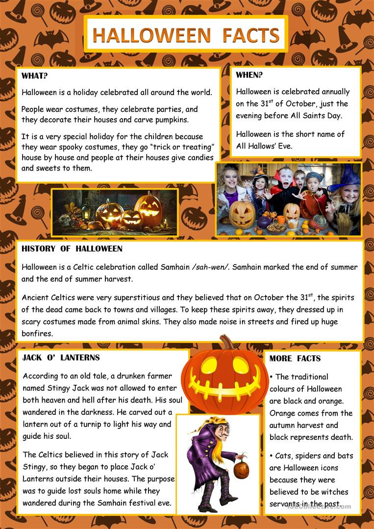 Halloween Worksheets islcollective