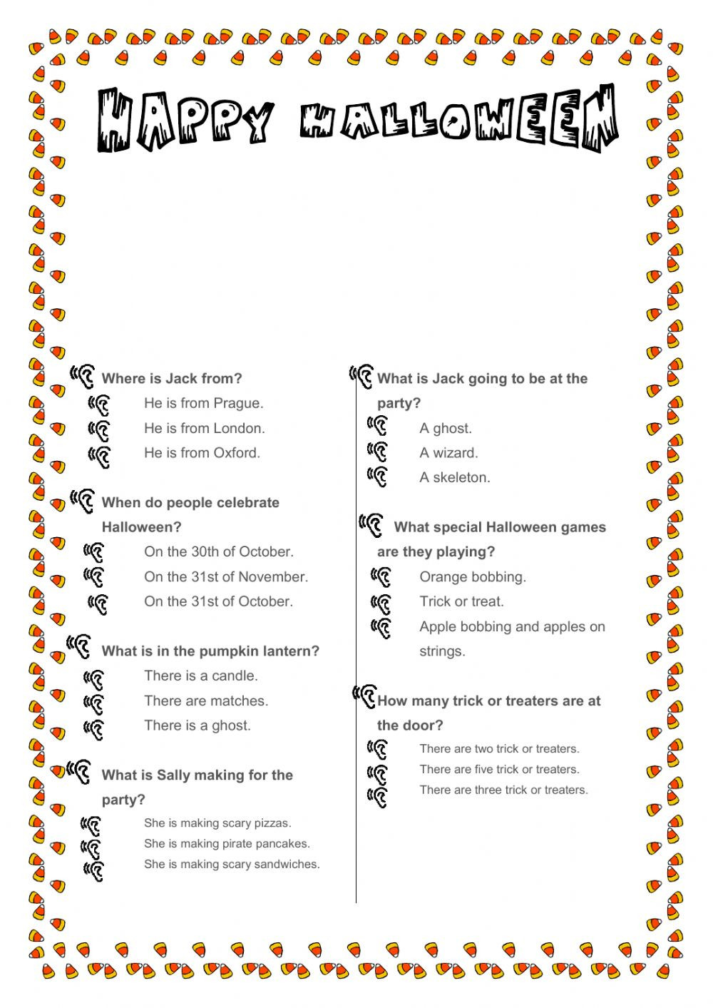 This is britain halloween adapted Interactive worksheet