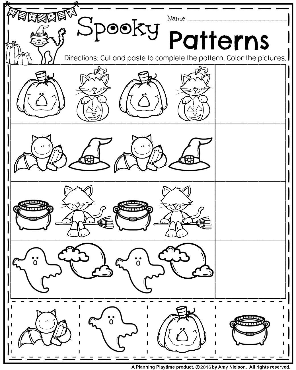 Halloween Worksheets Printables for Kindergarten