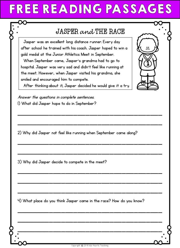Halloween Worksheets Reading Comprehension