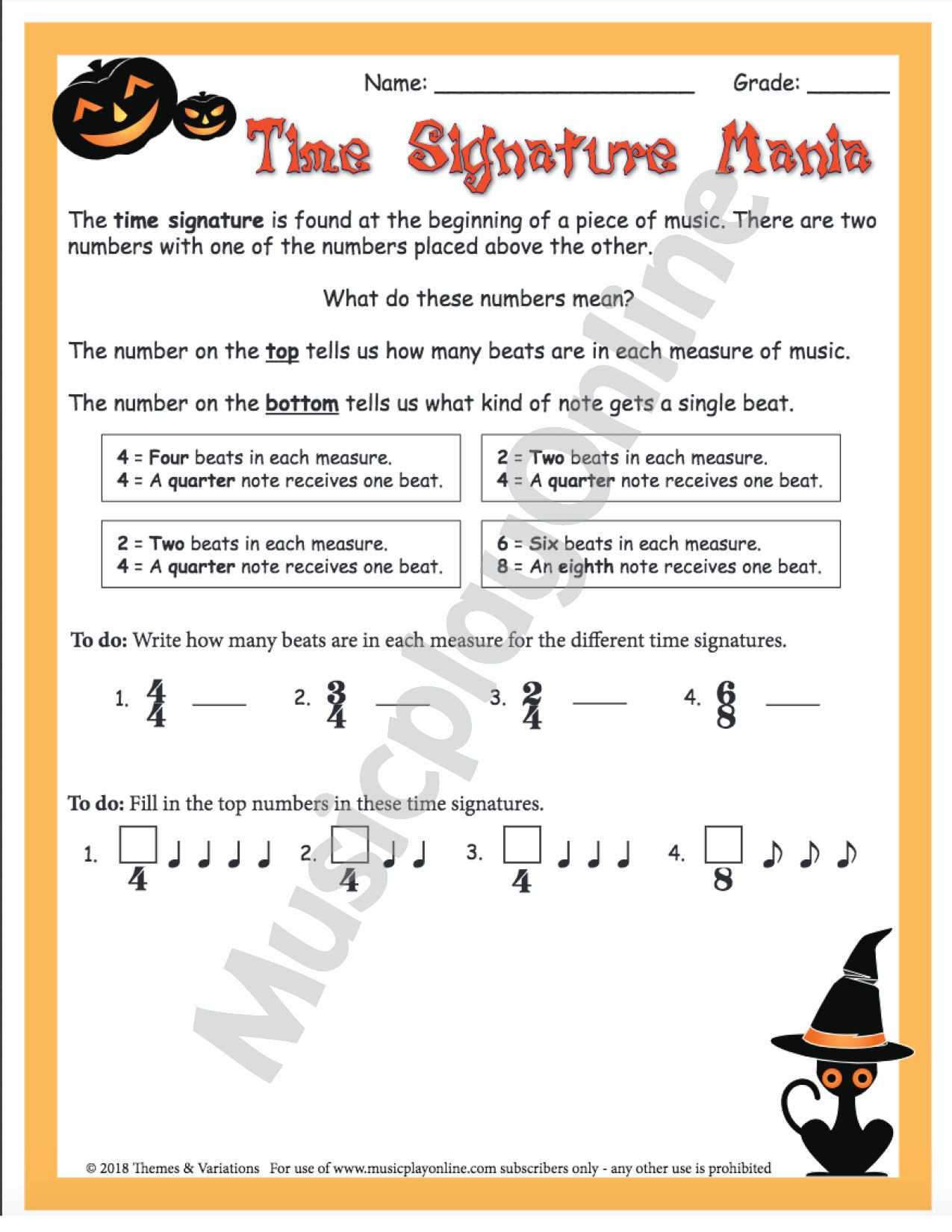 Halloween Worksheets Secondary Students