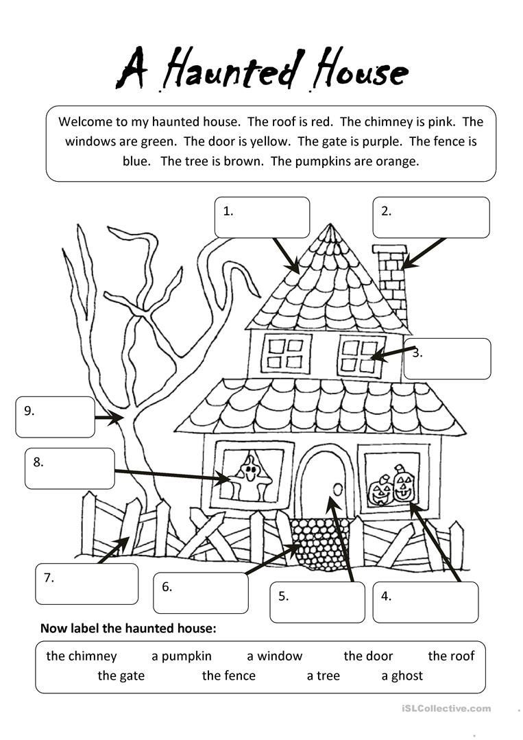 Printable Halloween Worksheets for First Grade